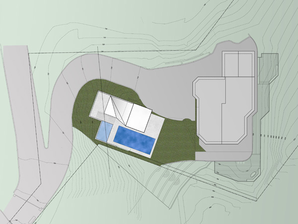 brentwood pool house site plan
